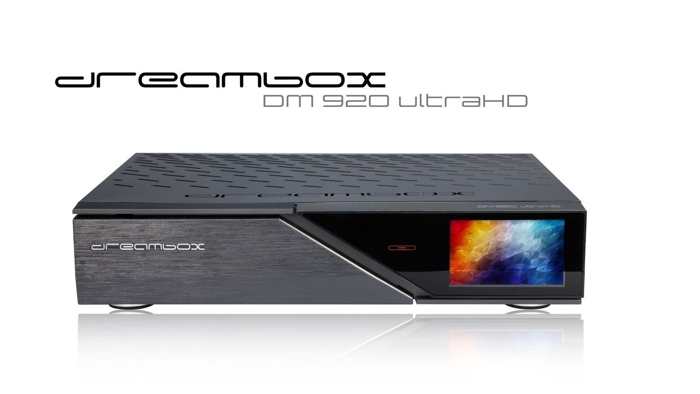 Dreambox DM920 UHD 4K med 1x DVB-S2 FBC / 1x Triple (2x DVB-S2X / 1x DVB-C/T) Tuner, IPTV