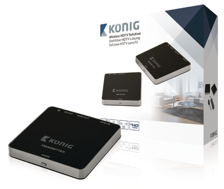 Trådløs HDTV-løsning HDMI (med 3D) 1080p